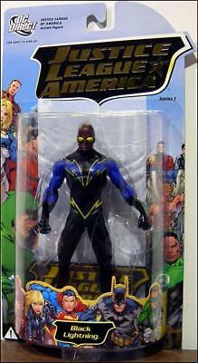 JLA series 1 BLACK LIGHTNING 6in Action Figure DC Direct Toys (1 Black Lightning Action Figure)