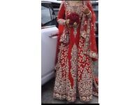 Asian red wedding dress/lengha
