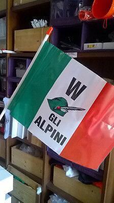 W gli Alpini bandierina 20x30 con astina