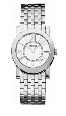 GUCCI SILVER ROMAN 35MM DIAL SWISS QUARTZ WATCH YA052301 GENUINE (Polished Genuine Swiss)