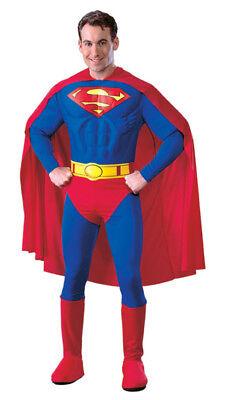 Deluxe Muskel Brust Hero Superman Kostüm - Med Größe - Muskel Superman Kostüm