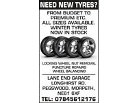 NEW AND PART WORN TYRES ALL SIZES AT DISCOUNTED PRICES