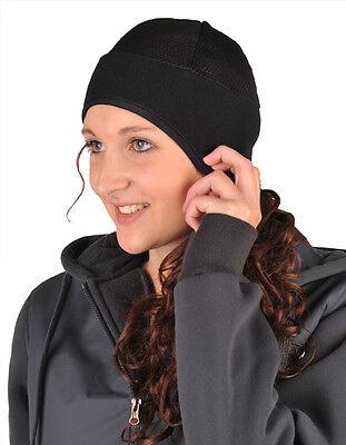 Kopfwärmer aus Fleece und Netzgewirke Ideal unterm Reithelm Reiten Pferd Mütze