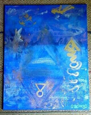 ANGELS GATE, Connect to them, Pyramid doorway painting, metaphysical Angel Art