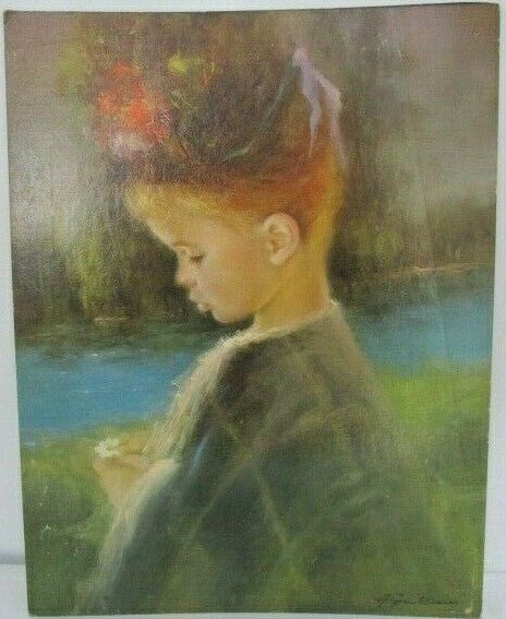 "Vintage Litho, ""Precious"" Signed by Artist, A. Gentilini"