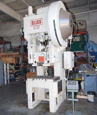 Bliss Model C75 Gap Frame Press Inv.1092