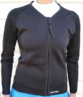 Women's 1.5mm Wetsuit Jacket, Full Front Zipper, Long Sleeve, Size: Small-Sale