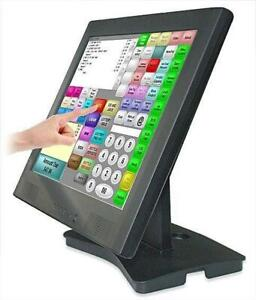 POS Touch Screen 15inch 17inch POS printer baroode scanner cash drawer