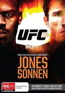 UFC #159 - Jones Vs Sonnen (DVD, 2013, 2-Disc Set) New & Sealed