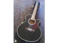 Freshman FA1ABK Folk Cutaway Electro Acoustic Guitar *With Hard Case*