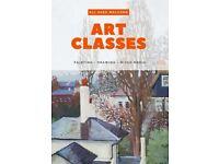 Art classes - painting - drawing - mixed media - sketching