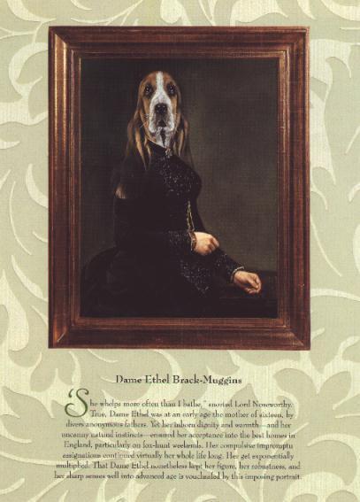 * Basset Hound Girl - Vintage Dog Art Print - Poncelet