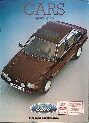 Ford Cars April-May 1985 UK Brochure Fiesta Escort Orion Sierra Capri Granada