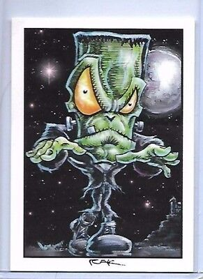 2 CARD HALLOWEEN SET ** TRADING CARD ART SIGNED by RAK ** NEAR MINT SEE MY STORE (Halloween Stores Near)