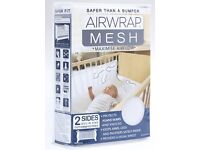 Air Wrap mesh cot bumpers 2 sides
