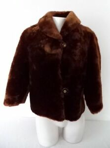 Vintage MOUTON Fur Coat PEI MADE xs