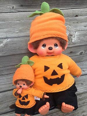 Kleidung für MONCHHICHI Gr. 20 oder xxl Gr.45 Monchichi Halloween Kostüm Kürbis ()