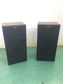 vintage Sony SS-E400 speakers