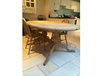 Double pedestal extendable Pine kitchen table