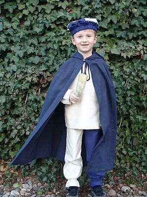 Mittelalter Kinder Umhang Kostüm Baumwolle grün rot schwarz blau Kinderumhang