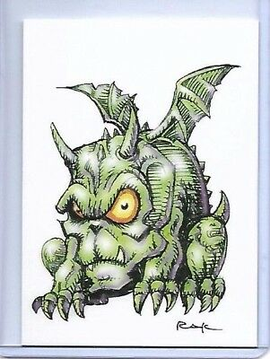 8 CARD HALLOWEEN SET ** TRADING CARD ART SIGNED by RAK ** NEAR MINT SEE MY STORE (Halloween Stores Near)