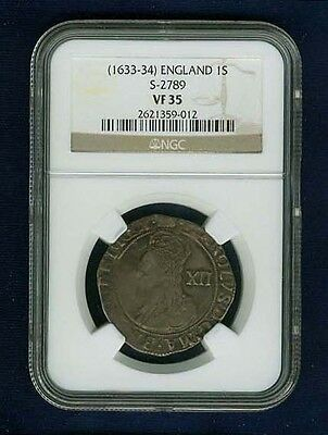 Click now to see the BUY IT NOW Price! G.B./ENGLAND CHARLES I  1633 34  1 SHILLING SILVER COIN CERTIFIED NGC VF 35