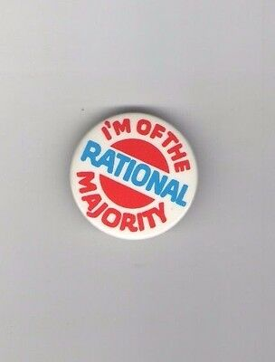 1981 pin ANTI RELIGIOUS RIGHT Moral Majority I'm of the RATIONAL MAJORITY