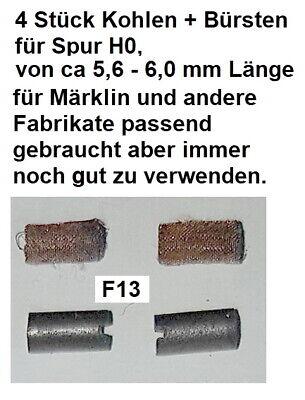 4 Stück Kohlen + Bürsten für Spur H0 für Märklin und andere Fabrikate passendF13