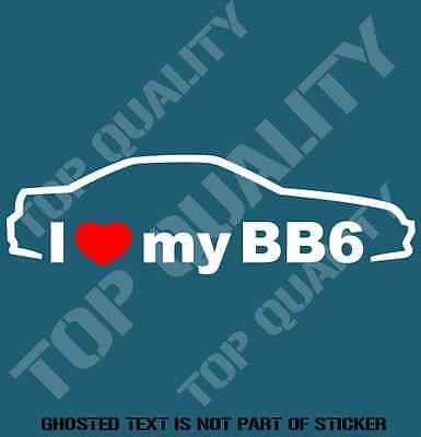 I love my bb6 decal sticker to suit honda jdm rally drift decals stickers