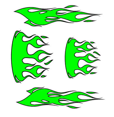 Paint Tribal Flames - RC airbrush stencil/ paint masks tribal flames 3-4 pc (SINGLE USE ONLY)