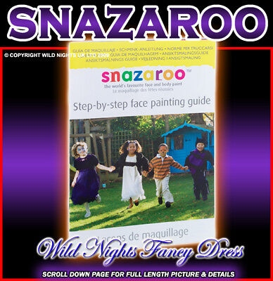 Halloween Face Painting Steps (SNAZAROO STEP BY STEP GUIDE FACE PAINTING)