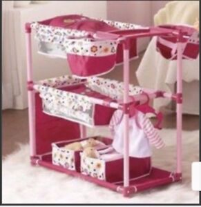 TWIN DOLL BED AND HIGHCHAIR PLAY CENTRE NEW