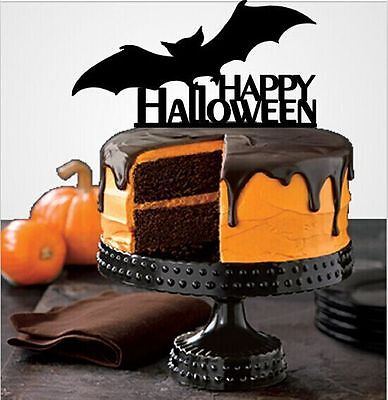 Halloween Cake Topper Selection, Halloween Decorations, Party Supplies, USA - Halloween Decorations Cakes