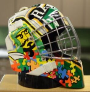 Prince Albert Raiders Game Worn Autism Mask March 4th Game