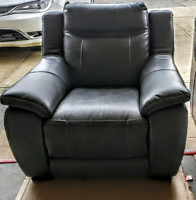 Nova Leather-look Fabric single seat and couch set