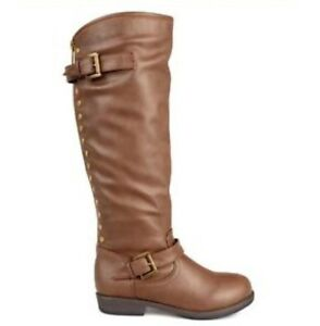 New! Journee wide-calf Spokane studded riding boot, size 8 St. John's Newfoundland image 2