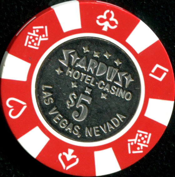 $5 Las Vegas Stardust Hotel Casino Chip - Coin Inlay