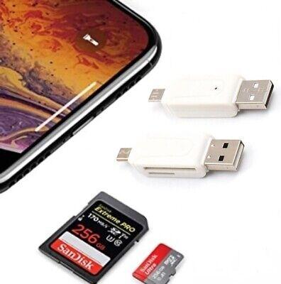 LETTORE ADATTATORE SCHEDA DI MEMORIA SD TF MICRO USB E MASCHIO USB OTG A 2.0