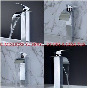Rubinetto lavabo alto bagno cascata rubinetteria miscelatore alta qualita 39 492 ebay - Rubinetteria a cascata bagno ...