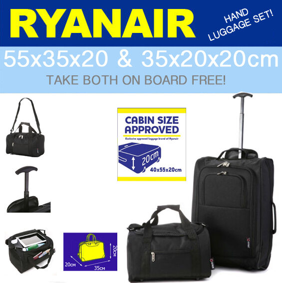 ryanair accept en cabine compatible avec 55x40x20 2nd 35x20x20 bagage main ebay. Black Bedroom Furniture Sets. Home Design Ideas