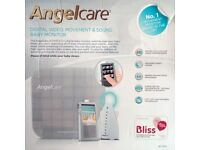 Angelcare AC1100 Digital Video, Movement & Sound Baby Monitor (with Cord Cover Kits)