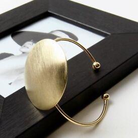 Big Geometric Round Cuff Bracelet