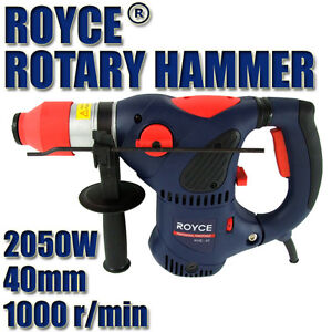 NEW ROYCE PROFESSIONAL 2050w KEYLESS CHUCK ROTARY HAMMER DRILL + 5pc SDS DRILLS
