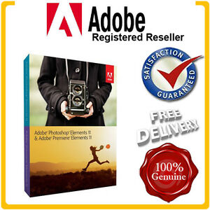 Sealed Adobe Photoshop Elements & Premiere Elements 11 MAC/PC 2PCs