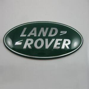 LAND ROVER GREEN/SILVER SUPERCHARGED BACK BADGE