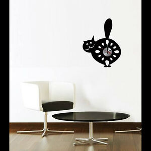 Vinilo reloj silencioso decoracion pared 018 ebay - Reloj vinilo pared ...