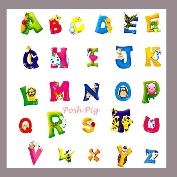 abc alphabet buchstaben tiere kinder wand sticker riesig. Black Bedroom Furniture Sets. Home Design Ideas