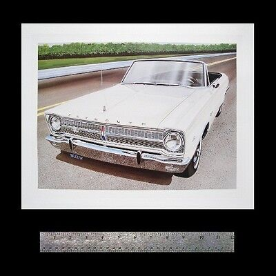 BELVEDERE GTX SATELLITE CONVERTIBLE PLYMOUTH: 1965 1966 1967 273 318 - ART PRINT