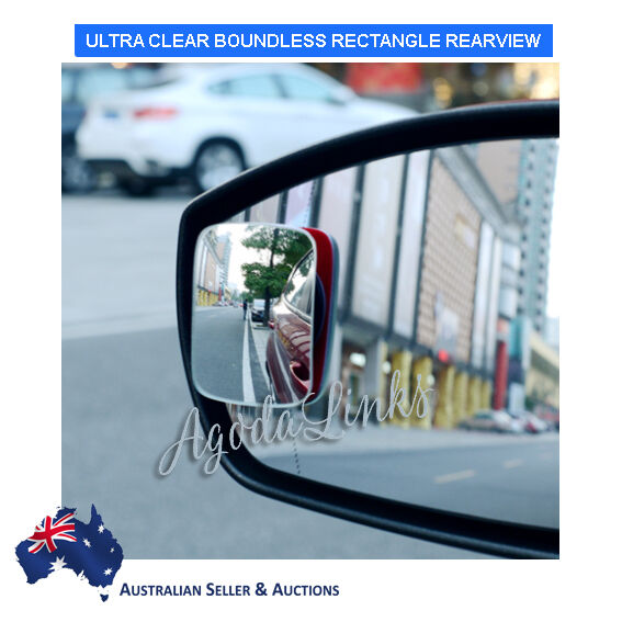 Car Rearview Side Mirror Blind Spot Rear View Convex Wide Angle Adjustable