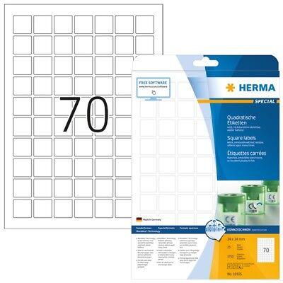 HERMA 10105 Ablösbare Etiketten A4 24x24 mm weiß quadratisch Movables/ablösbar P